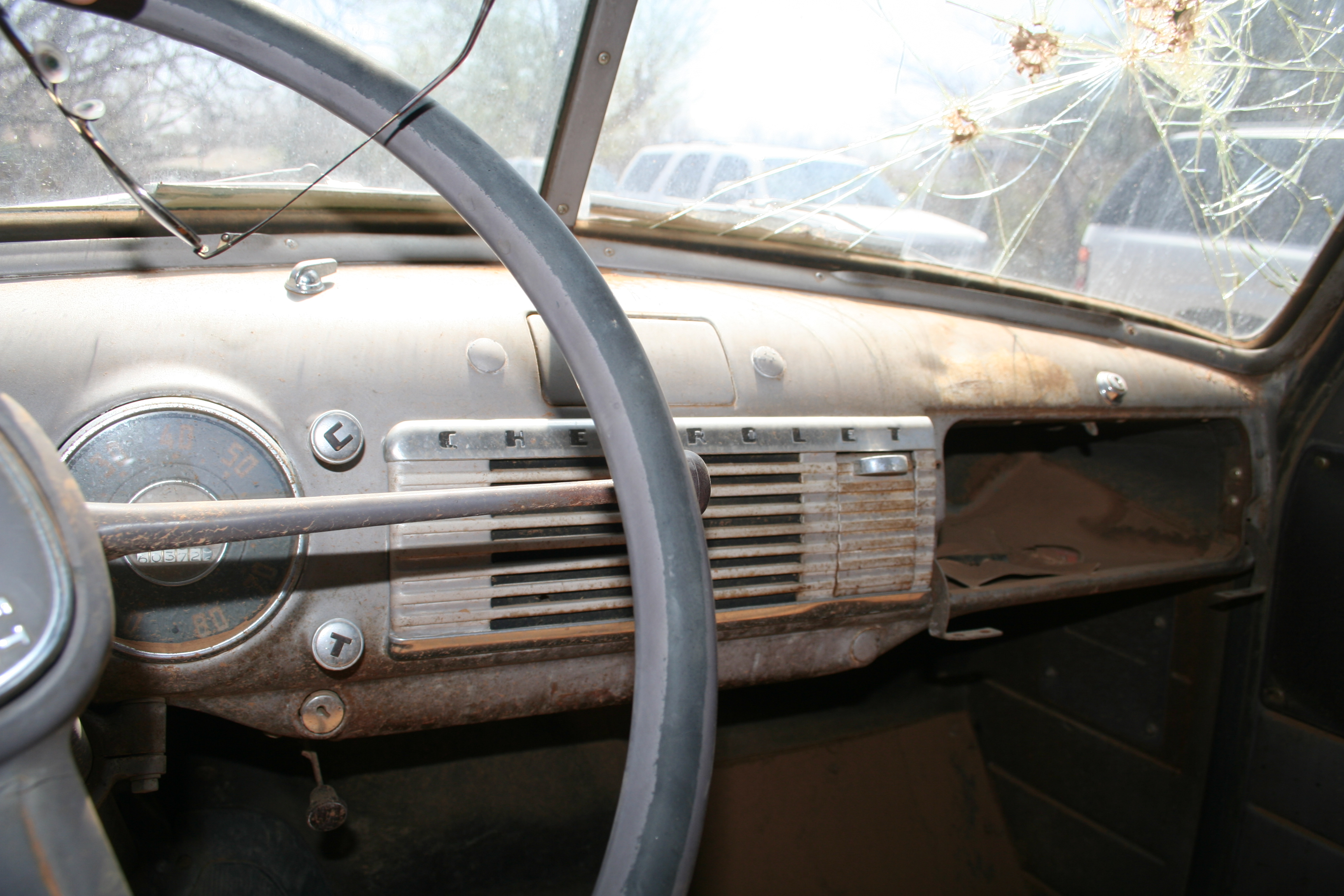 Chevrolet Pickup 1951 Curry Troys Tractors Chevy Steering Wheel